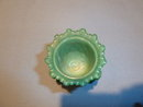 VINTAGE GREEN SLAG FORGET ME NOT TOOTHPICKER HOLDER