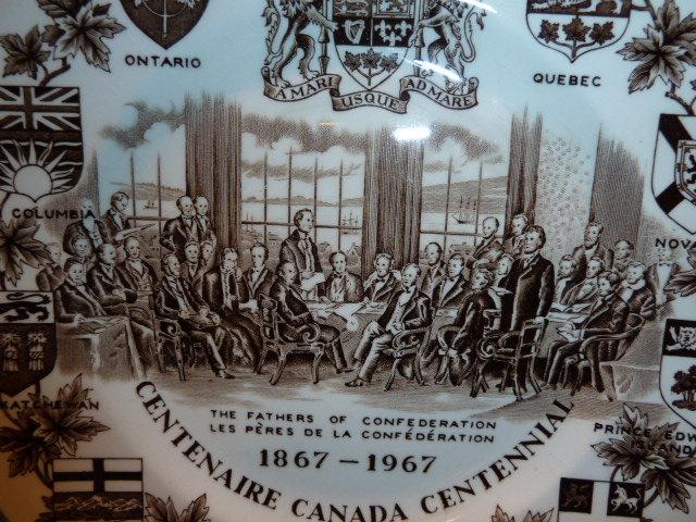 Wood & Sons Plate - Centenaire Canada Centennial 1867-1967