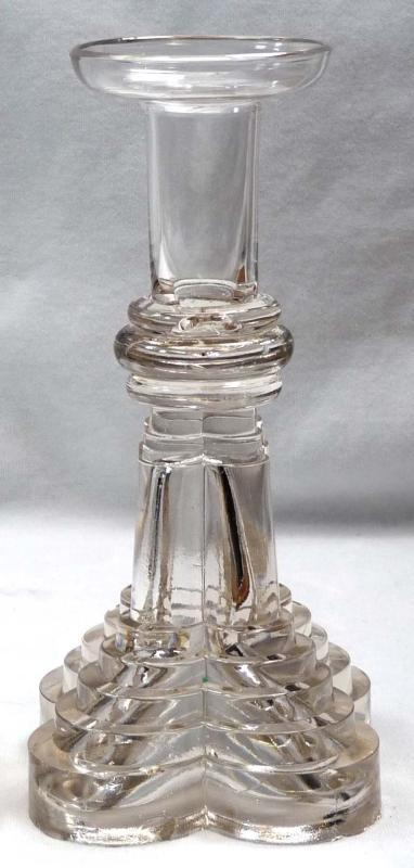 RARE Antique Pair BOSTON & SANDWICH Glass Candlesticks1