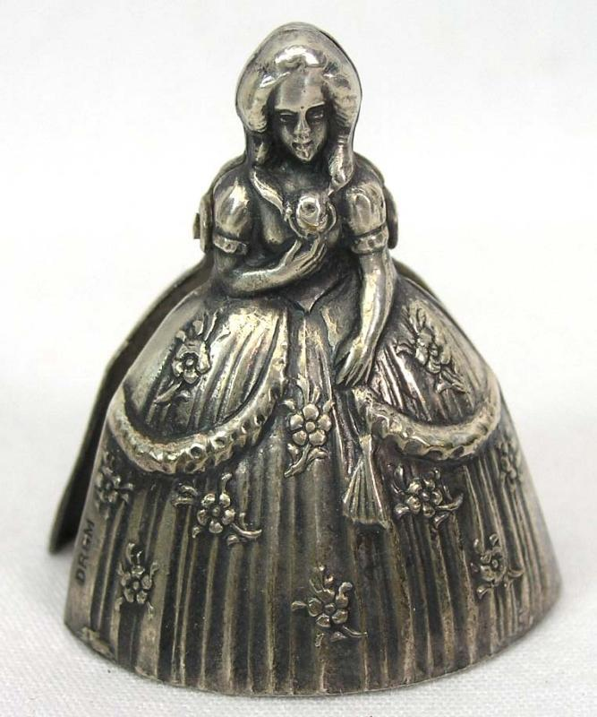 12 Figural Victorian Lady Place Card Holders ALPACCA