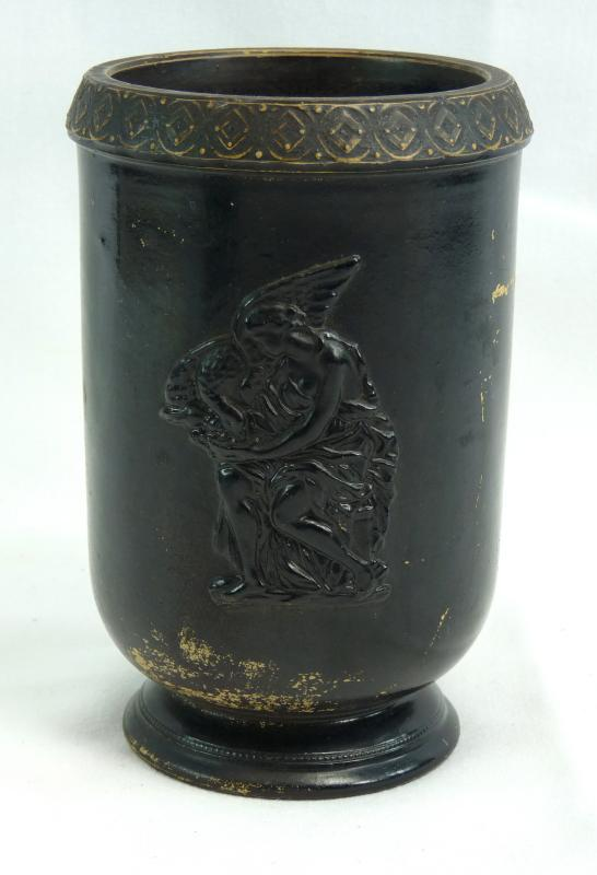 Antique Ferdinand Gerbing Signed FGW 371 Bohemian Neoclassical Pottery Vase