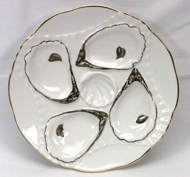 Vintage OYSTER PLATE Oyster Shells Made Germany