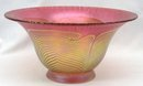 Large 1985 Signed CORREIA Art Glass Bowl Pulled