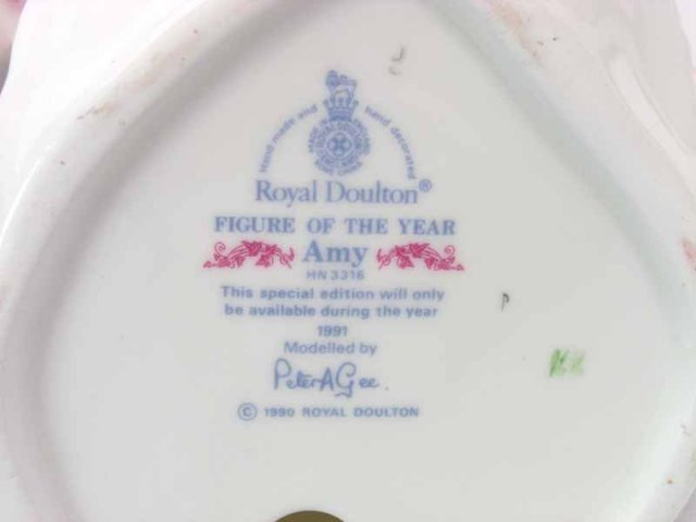 1991 Royal Doulton AMY Figurine of the Year HN 3316