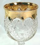 EAPG HEART WITH THUMBPRINT Goblet w/ Gold Trim