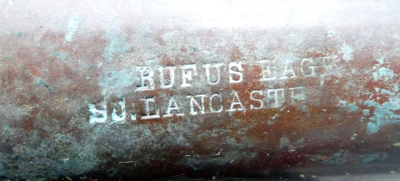 Antique Rufus Eager So. Lancaster Mass. Copper Hand Water Pump