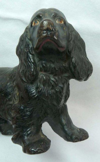 HUBLEY Cast Iron BLACK COCKER SPANIEL Dog Doorstop