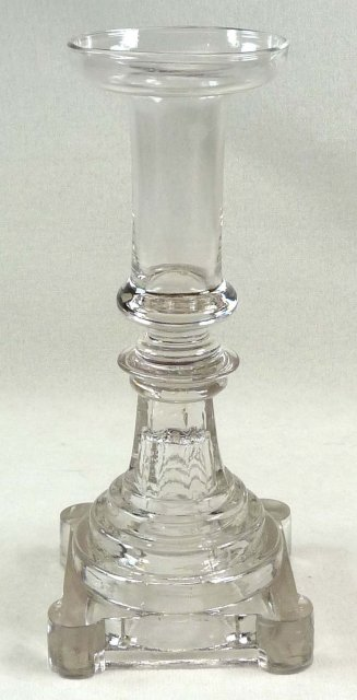 BOSTON & SANDWICH Flint Glass Candlestick Blown Socket
