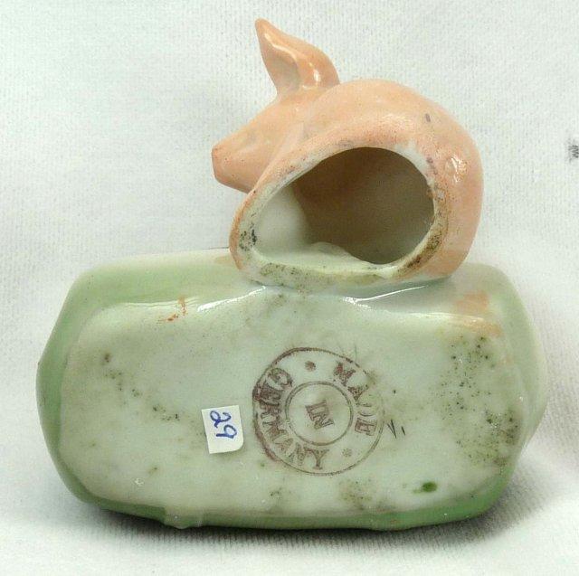 Old German PINK PIG Suitcase FALL RIVER MASS Souvenir