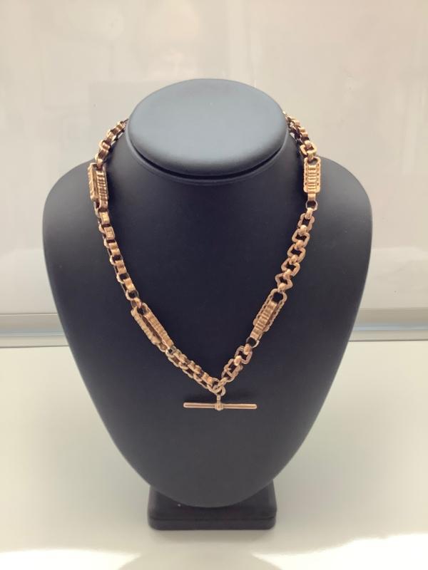 Victorian 9ct Rose Gold Prince Albert Chain