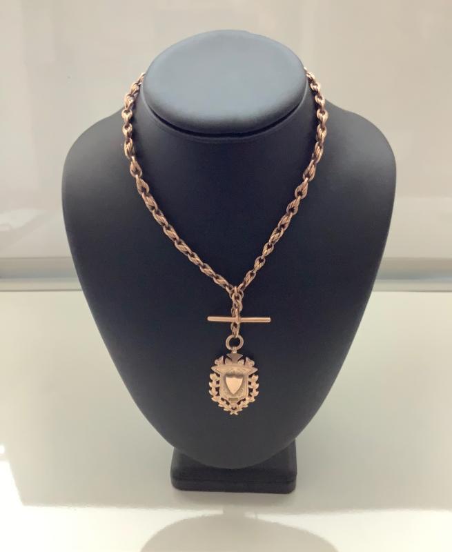 Victorian 9ct. Rose Gold Prince Albert Chain & Medallian