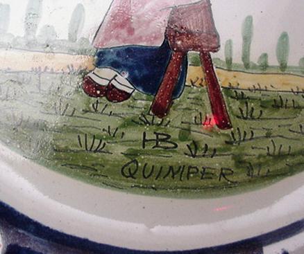 Quimper Early HB Plate :Dutch Delft Border
