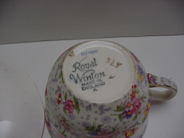 RWC: Royal Winton Chintz Vintage Eleanore Trio