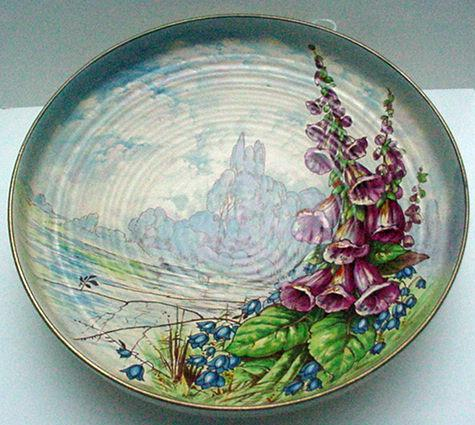 Royal Winton Hand Painted Charger - Signed