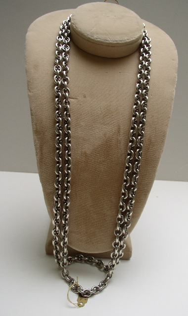 Victorian Very Heavy Sterling Chain