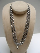 Victorian Sterling Long Chain Necklace