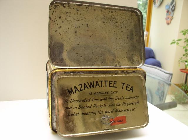 Mazawattee Tea Advertising Tin