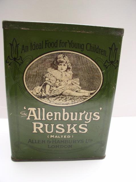 Allenburys' Rusks Advertising Tin