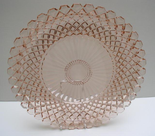 Depression Glass Windsor Design Serving Plate