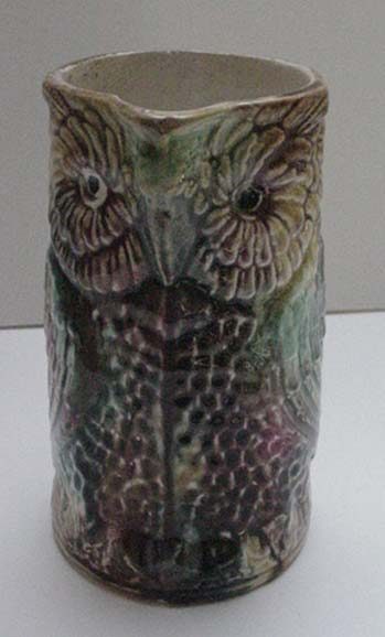 Majolica Owl Pitcher