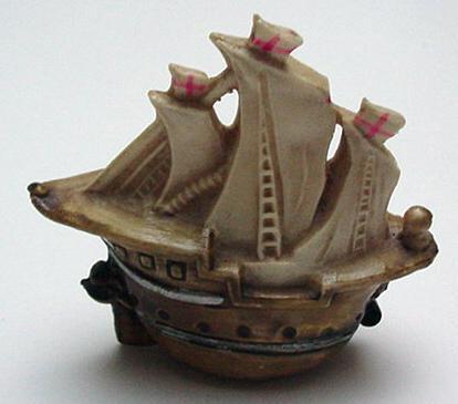 Celluloid Vintage Ship Tape Measure