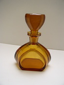 Czech Vintage Amber Color  Perfume Bottle