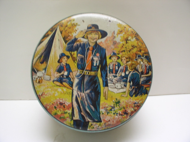 Advertising tin for the English Girl Guides