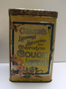 Advertising Tin for Gibson's Cough Lozenge