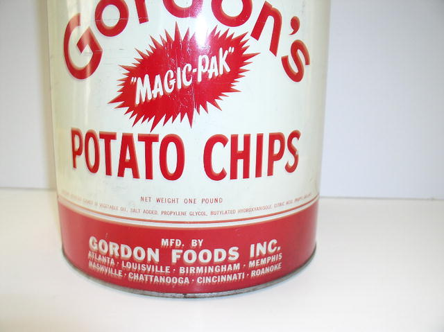Gordon's Potato Chip Advertisiing Can