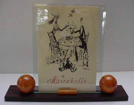 Bakelite: Fabulous Bakelite and Wood Deco Frame