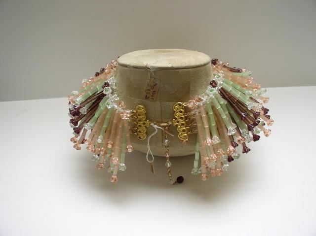 Stanley Hagler Glass Multicolor Bib Necklace &