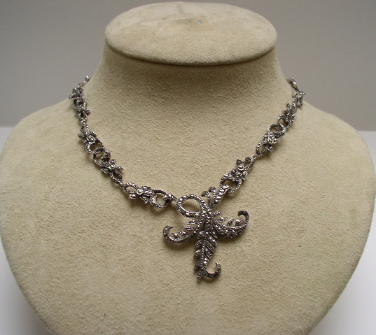 English 1920's marcasite necklace