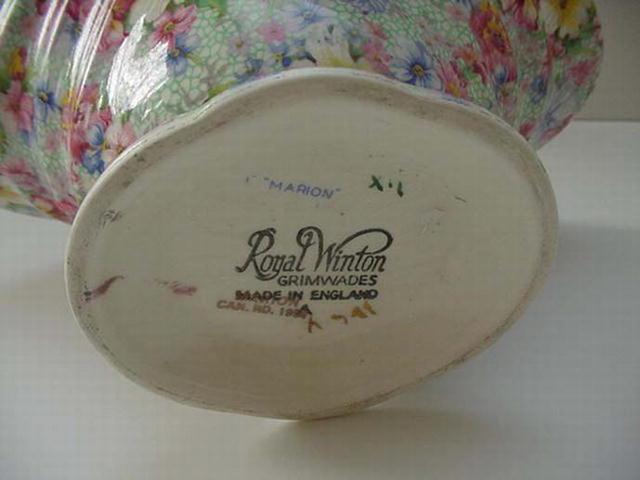 RWC: Royal Winton Vintage Marion Large Basket