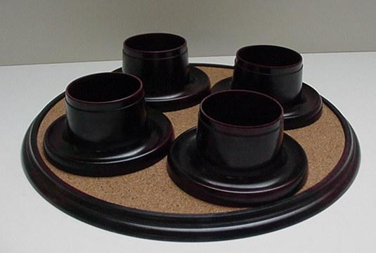Bakelite English Vintage set of egg cups/tray