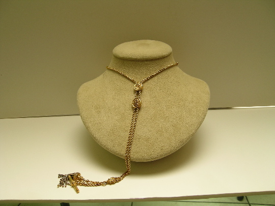 Victorian 18 Ct. Gold slide necklace