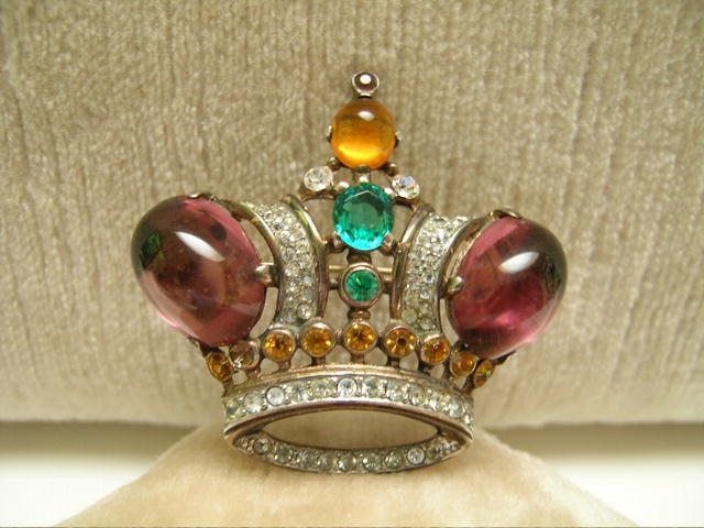 Vintage Trifari Sterling Crown Brooch