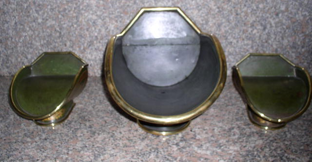 Set of Three Display Toleware Hoppers
