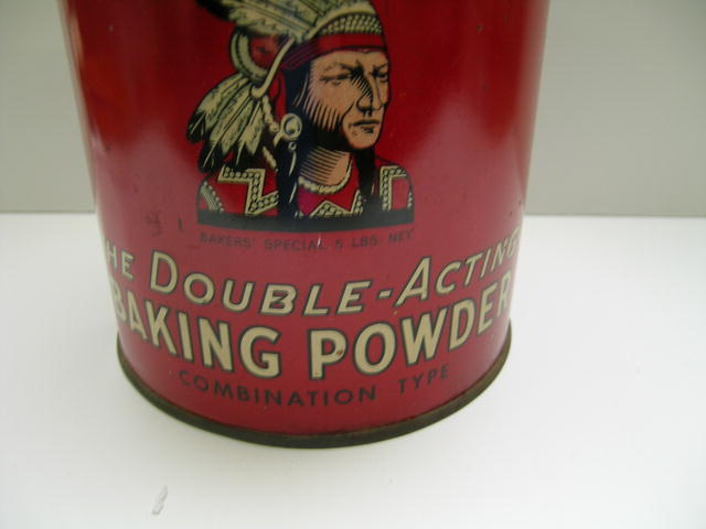 Large Calulmet Double Acting Baking Powder Tin