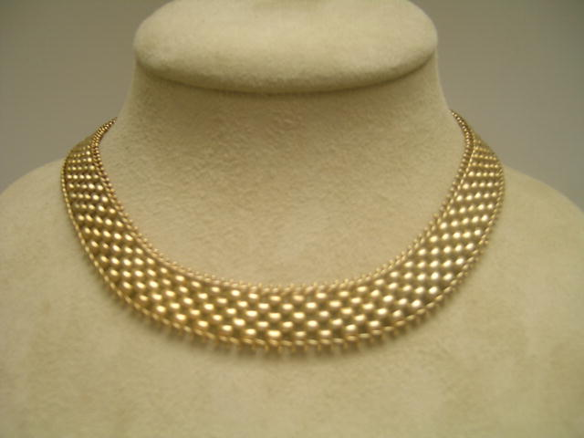 15 Ct. Victorian English Basketweave Necklace