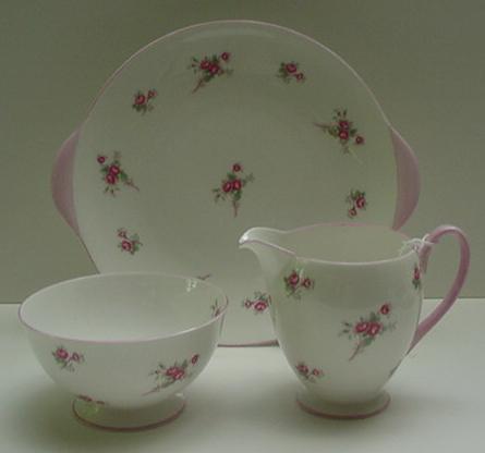 Shelley Rose Spray Tea Set For Four