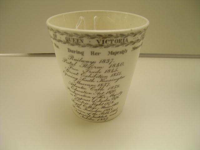 Commemmorative Beaker Honoring Queen Victoria's