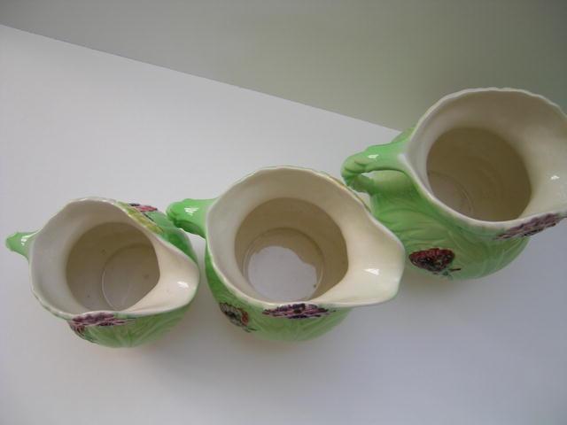 Shorter & Son Set of 3 Dahlia Jugs
