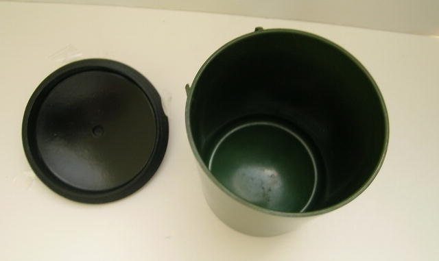 Bakelite Green Cannister with Black Top