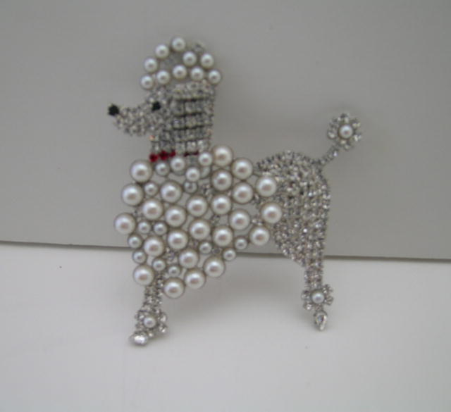 Butler and Wilson White Poodle Brooch