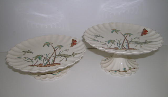 Pair of Beautiful English Copeland Compotes