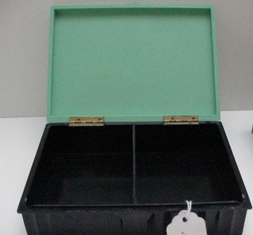 Bakelite Greenand Black Rectangular Box