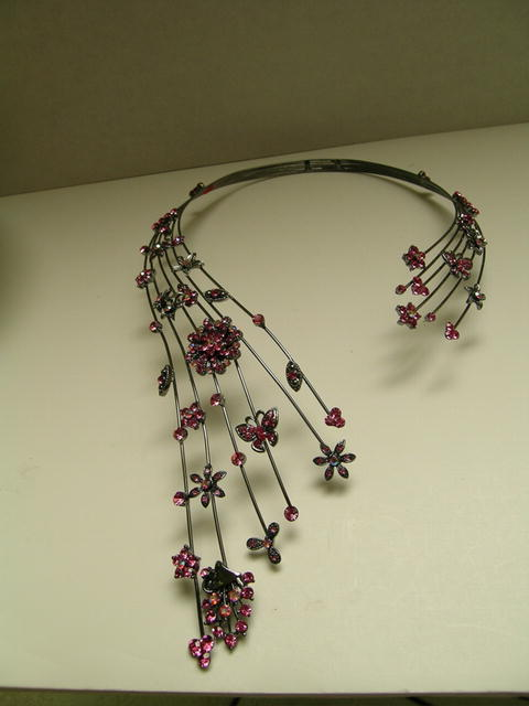 Crystal Flower and Butterfly spring Necklace