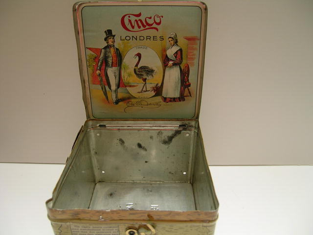 Cinco Advertising Cigar Tin