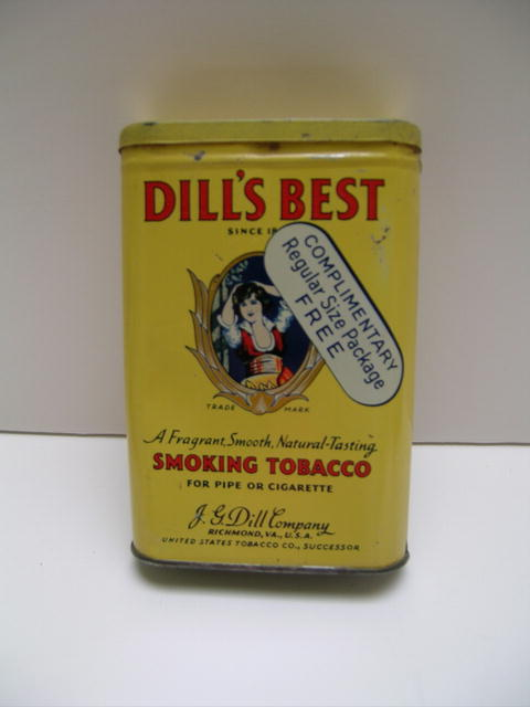 Dill's Best Smoking Tobacco Tin
