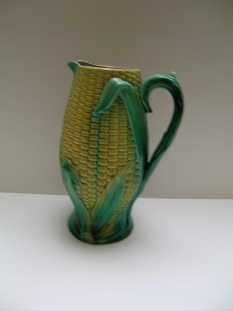 Majolica Corn Pitcher